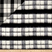 Telio Kaori Plaid Stripe Brushed Coating Black/White