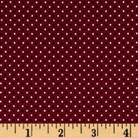 Stof Avalana Jersey Knit Dots White/Burgundy