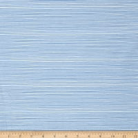 Stof Avalana Jersey Knit Blue & White Stripe