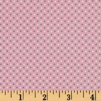 Stof Avalana Jersey Knit Grey & White Dot On Pink Ground