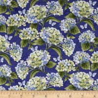 Heavenly Hydrangeas by Sue Zipkin Y2256 Royal Blue