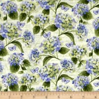 Heavenly Hydrangeas by Sue Zipkin Y2256 Light Butter