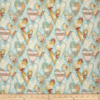 Love Song Hearts Light Teal
