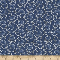 Blueberry Buckle Dotted Flowers Denim