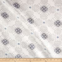 Medallion Jacquard Metallic Blue