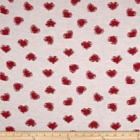 Apparel Novelty Cotton-Blend Jacquard Red Heart