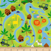 Timeless Treasures Jungle Jam Safari Map Map