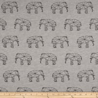 Stof Avalana Sweatshirt Fleece Elephant Silhouettes Black/Charcoal