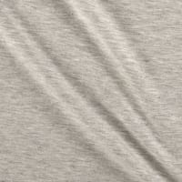 Stof Fabrics Denmark Avalana Melange Jersey Knit Solid Light Grey