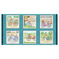 "Enjoy The Journey 24"" Bike Blocks Panel Multi"