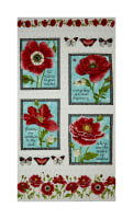 "Poppy Perfection 24"" Poppy Panel White"