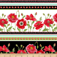 Poppy Perfection Large Poppy Stripe White/Black