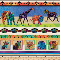 Serengeti Reflection Animal Novelty Stripe Multi