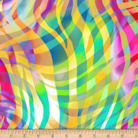 "Zebra Skins 108"" Wide Back Pastel/Bright"