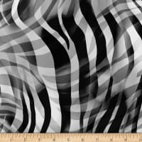 "Zebra Skins 108"" Wide Back Black/White"