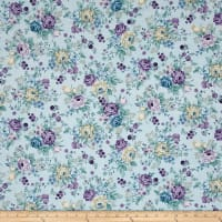 Twilight Garden Vintage Allover Floral Spa Blue