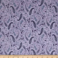 Twilight Garden Vintage Allover Paisley & Flower Lilac