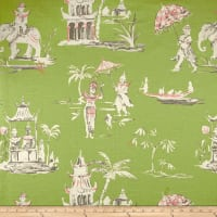 Home Accent Pagoda Road Toile Pistachio