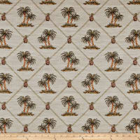 Regal Largo Palm Tree Framed Jacquard Multi