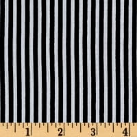 Rayon Challis Stripes Black