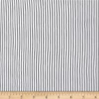 Rayon Challis Stripes White/Black