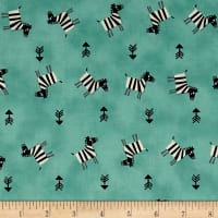 Savanna Zebra and Arrows Green