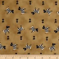 Savanna Zebra and Arrows Tan