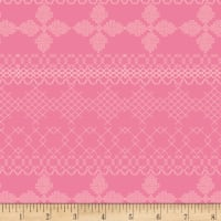 Art Gallery Wild Bloom Cross & Stitch Candy Pink