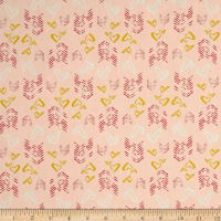 Hearts Fletching Gold Light Pink