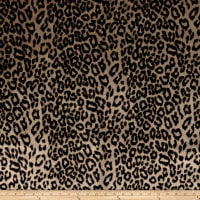 Michael Miller African Leopard Faux Fur Brown