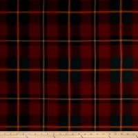 Ralph Lauren Home Colter Falls Plaid Tartan Red Twill