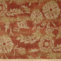 Ralph Lauren Home Sonoran 100% Linen Basketweave Floral Adobe