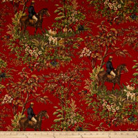 Ralph Lauren Home LCF24586F Ainsworth Twill Cantebury Red Sateen
