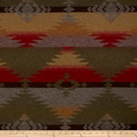 Ralph Lauren Home LCF66759F Red Rock Blanket Melton Wool Woodmoss