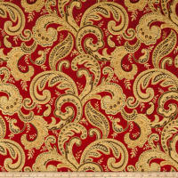 Plush Darling Flourish Chenille Jacquard Ruby
