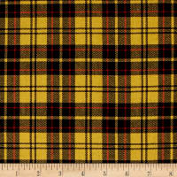 Kaufman Sevenberry: Classic Plaid Twill Plaid Yellow