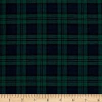 Kaufman Sevenberry: Classic Plaid Twill Plaid Hunter