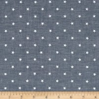 Kaufman Sevenberry Classiques Chambray Stars Royal