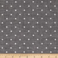 Kaufman Sevenberry Classiques Chambray Stars Black