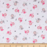 Kaufman Monkey Hangout Flannel Monkeys Pink