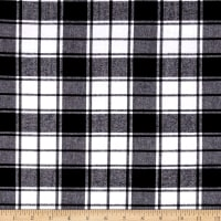 Kaufman Brooklyn Plaid Flannel Black