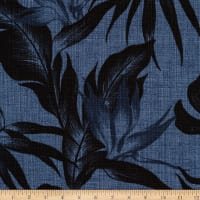 Kaufman Sevenberry Island Pardise Barkcloth Denim