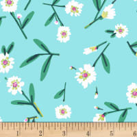 Dear Stella Mint Julep Lake Flowers Turquoise