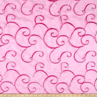 Embroidered Organza Fuchsia