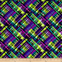 Pine Crest Fabrics Torn Rainbow Printed Athletic Knit Purple/Multi