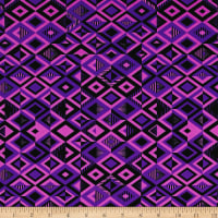 Pine Crest Fabrics Driven Printed Athletic Knit Black/Purple/Orchid