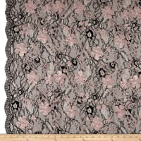 Telio Elise Embroidered Chantilly Lace Dusty Pink