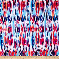 Designer ITY Knit Ikat Sky Blue/Strawberry/Multi