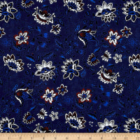 Thakoon Folksy Floral Voile Navy/Cream/Red