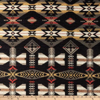 AMERICAN MADE Artistry Tribal Southwest Chenille Jacquard Shiprock Ebony